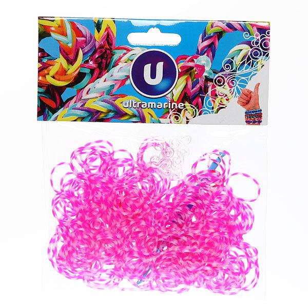 Резинки для плетения 300шт косички микс цветов с крючком и S-клипсами купить оптом и в розницу