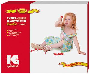 Пластилин 16 цв.Лимпопо Дети восковой со стеком к/у купить оптом и в розницу