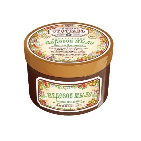 Мыло для тела МЁД Дягилевый мёд на основе мыльн.корня с экс.шиповн, пропол, масл.пихт380мл купить оптом и в розницу