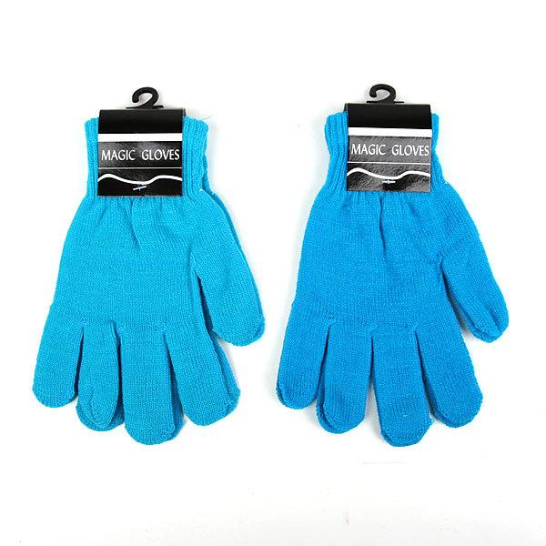 Перчатки однотонные ″Классика″ цвет голубой, h-21см купить оптом и в розницу