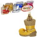 Ёлочные игрушки, набор 6шт,5см ″Сапожки″микс купить оптом и в розницу