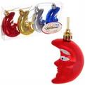Ёлочные игрушки, набор 4шт, 6см ″Месяц″ микс купить оптом и в розницу