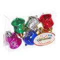 Ёлочные игрушки, набор 6шт, 4см ″Колокольчики звездочка″ микс купить оптом и в розницу