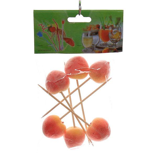 Шпажки в наборе 6 шт ″Персики″ купить оптом и в розницу