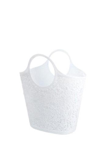 Сумка-корзинка кружевная белый *12 купить оптом и в розницу