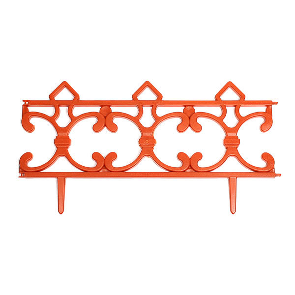 Забор декоративный ″Ковка″ терракот 6 шт 3,5м*0,225м купить оптом и в розницу