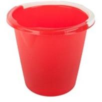 Ведро 10 л (код 7051) красный купить оптом и в розницу