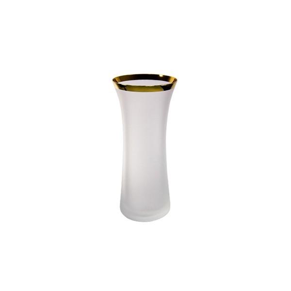 Ваза стеклянная ″Матовая с золотом″ 25см (82562/250/20495) купить оптом и в розницу