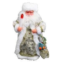 Дед Мороз музыкальный 25см со свечкой в золотой шубе купить оптом и в розницу