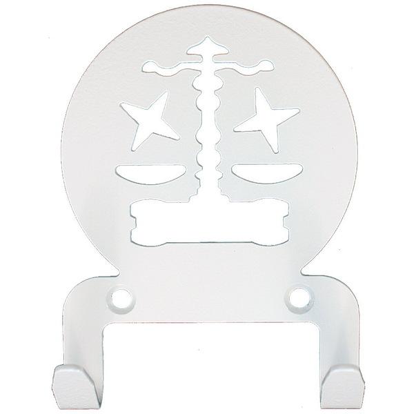 Крючок универсальный, серия ″Астрология″, модель ″Весы - 2″, цвет белый купить оптом и в розницу