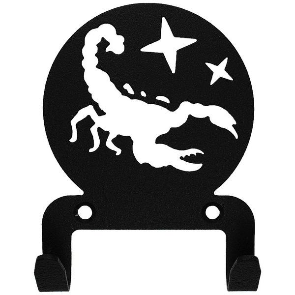 Крючок универсальный, серия ″Астрология″, модель ″Скорпион - 2″, цвет черный купить оптом и в розницу