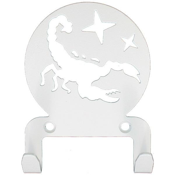 Крючок универсальный, серия ″Астрология″, модель ″Скорпион - 2″, цвет белый купить оптом и в розницу