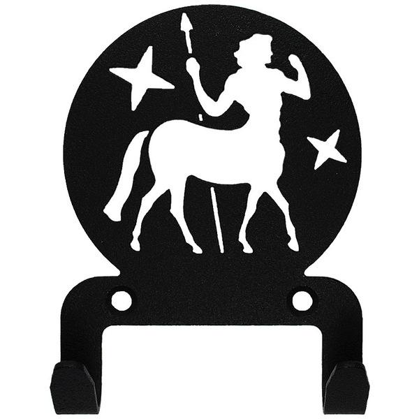 Крючок универсальный, серия ″Астрология″, модель ″Стрелец - 2″, цвет черный купить оптом и в розницу