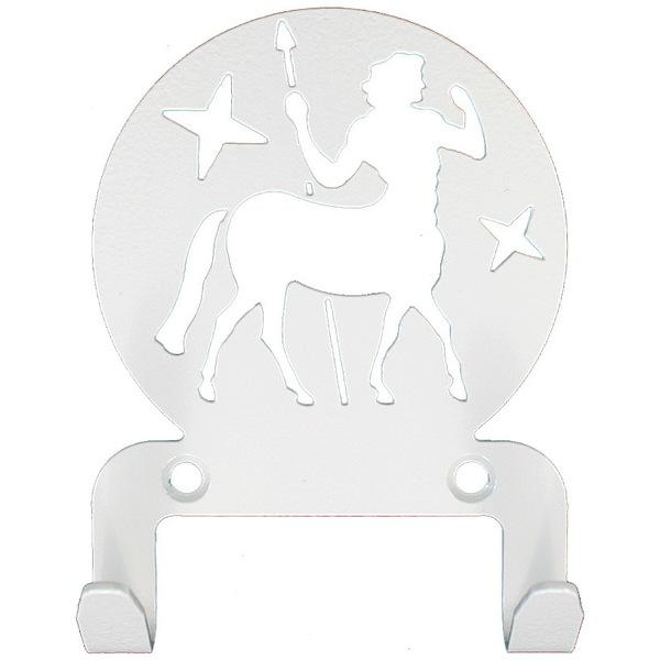 Крючок универсальный, серия ″Астрология″, модель ″Стрелец - 2″, цвет белый купить оптом и в розницу