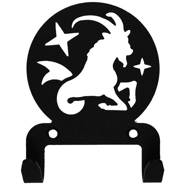 Крючок универсальный, серия ″Астрология″, модель ″Козерог - 2″, цвет черный купить оптом и в розницу