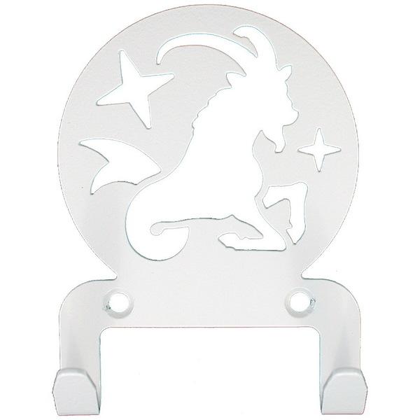 Крючок универсальный, серия ″Астрология″, модель ″Козерог - 2″, цвет белый купить оптом и в розницу