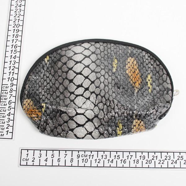 Косметичка, лакированная эко-кожа ″Змеиный принт″ 25*16 *7 купить оптом и в розницу