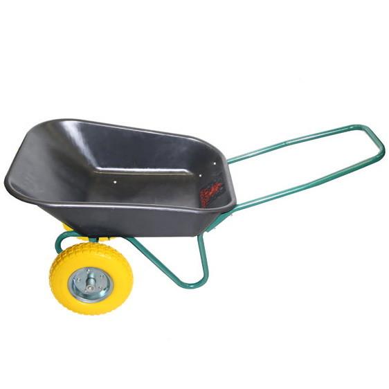 Тачка садовая WB6211-(пласт.кузов) 2-х кол. 65л(4мм)/160кг (4.00-6 пневмо) купить оптом и в розницу