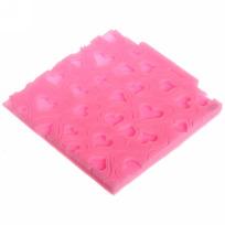 Форма силиконовая для мастики и марципана ″Сердечки″ 10*10,2*0,7 см купить оптом и в розницу