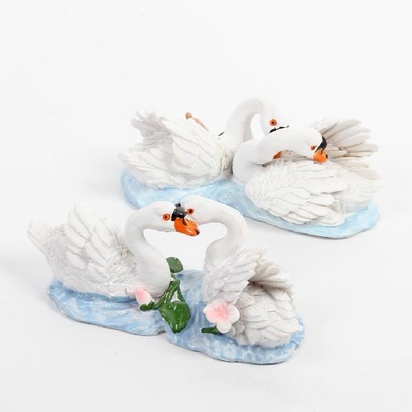 Фигурка из полистоуна ″Лебеди Белые″4*10см DY41723 (цена за шт) купить оптом и в розницу