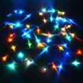 Гирлянда светодиодная 5,2м, 50 ламп LED, RGB(красный, зеленый, синий), 8 реж, прозр.пров. купить оптом и в розницу