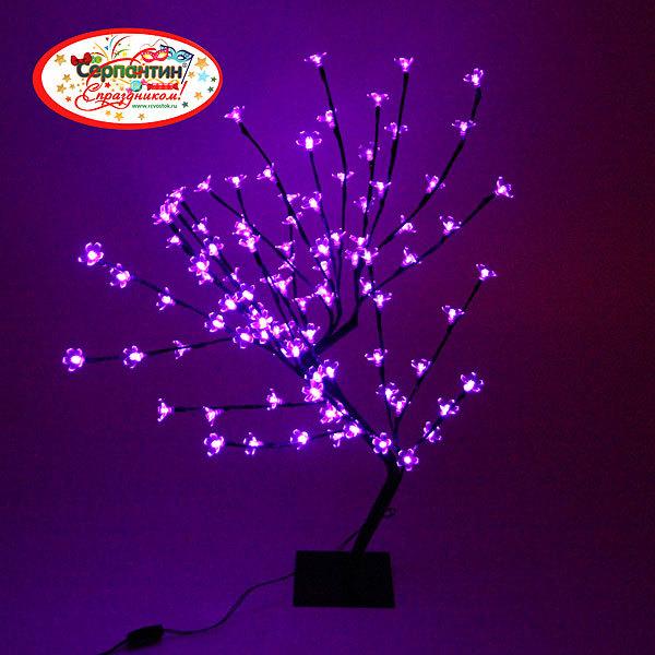 Световое дерево LED 40см, 96 ламп ″ Сирень″фиолетовое купить оптом и в розницу