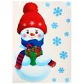 Наклейка декоративная ″Снеговик″ М 33,5*47 см/1728414 купить оптом и в розницу