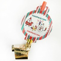 Язычок карнавальный ″Покуралесим!″, Снежон и Борода купить оптом и в розницу