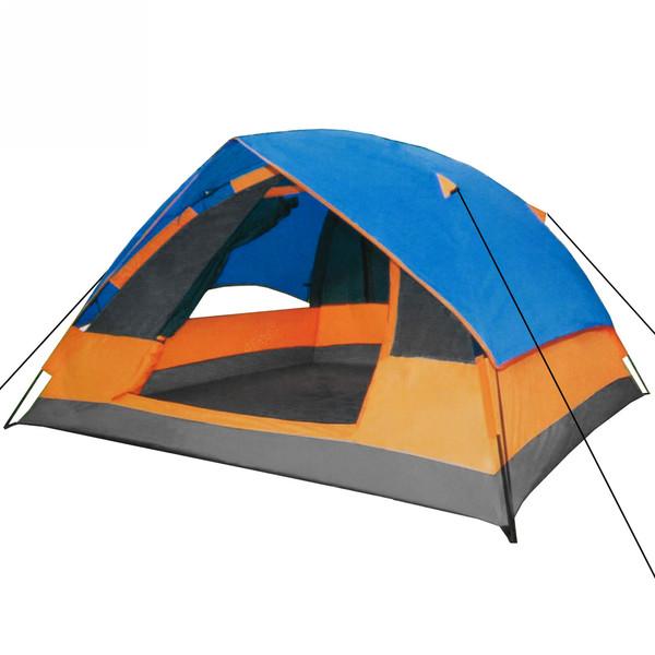 Палатка туристическая 3-местная 1-слойная зонтичного типа,цвет синий, 210*210*130 купить оптом и в розницу