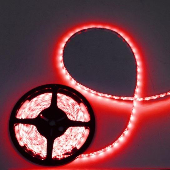 Лента светодиодная 5м*8мм, 60 ламп LED на 1м, красный,самоклейка, степень защиты IP65 купить оптом и в розницу