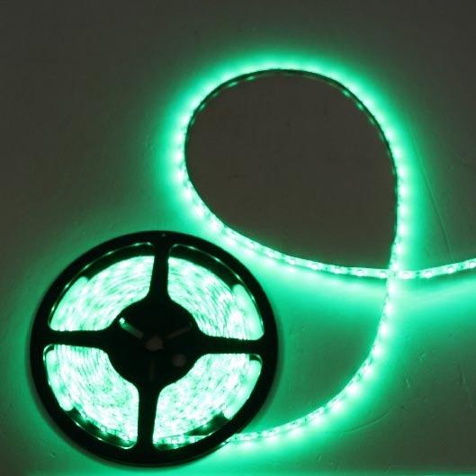 Лента светодиодная 5м*10мм, 60 ламп LED на 1м, зеленый,самоклейка, степень защиты IP65 купить оптом и в розницу