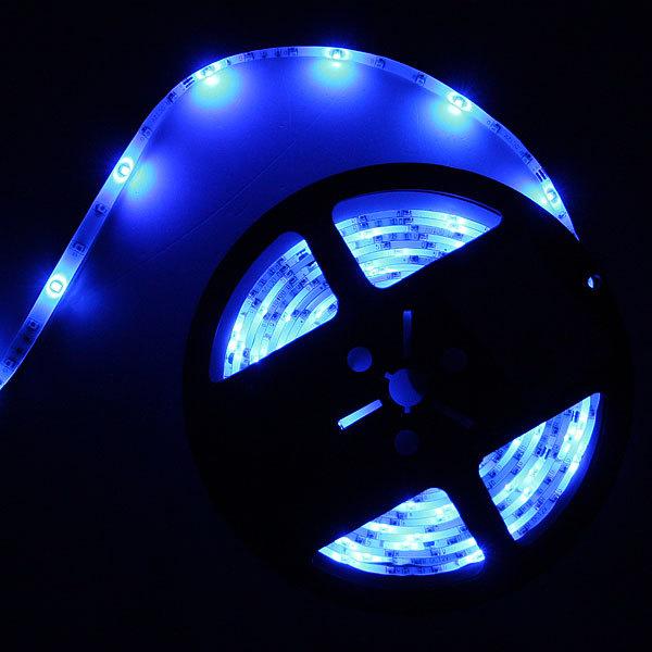 Лента светодиодная 5м*10мм, 60 ламп LED на 1м, теплый белый, самоклейка купить оптом и в розницу