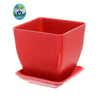 Горшок для цветов ″Кубик″ ЭКО 9*9*8,5см SHF-5А розовый купить оптом и в розницу
