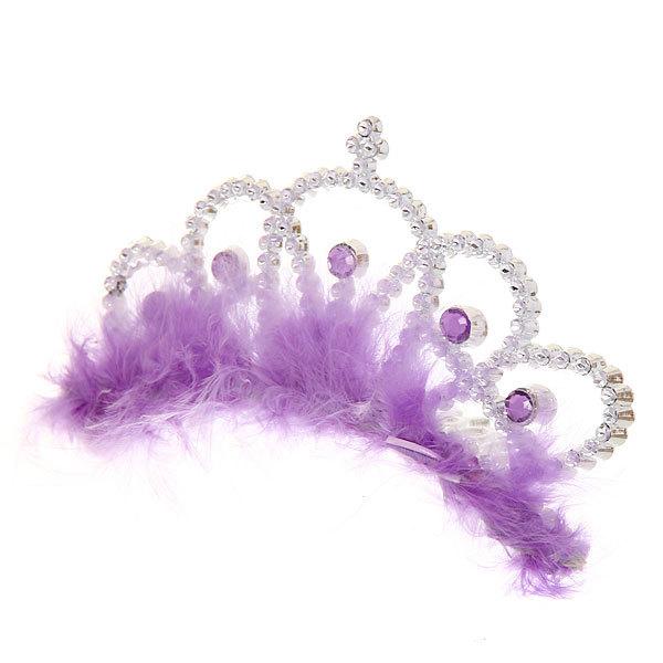Корона-гребень пластиковая карнавальная ″Принцесса Пушок″ 1656-012 купить оптом и в розницу