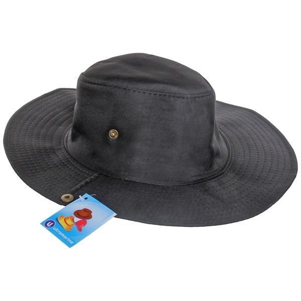Шляпа мужская с клепками черный цвет 58см купить оптом и в розницу