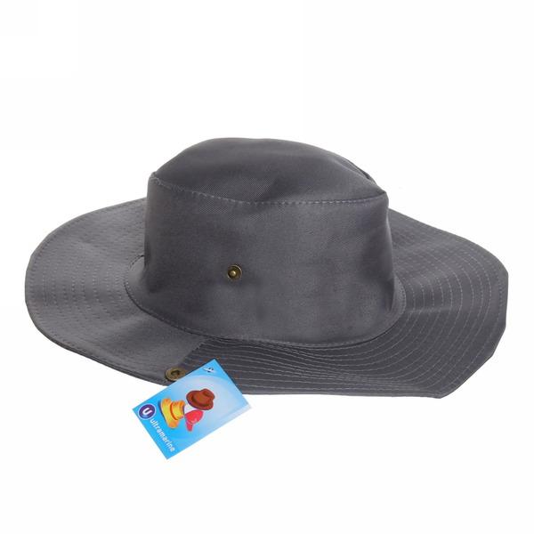 Шляпа мужская с клепками серый цвет 58см 056-3 купить оптом и в розницу