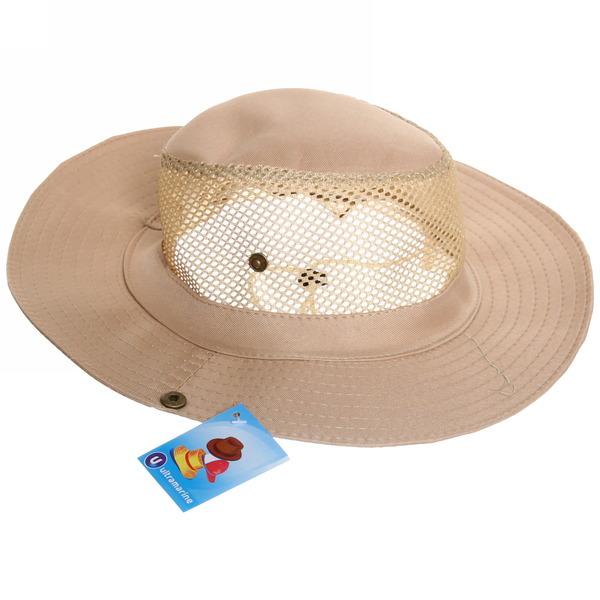 Шляпа мужская с клепками и сеткой бежевый цвет 58см купить оптом и в розницу
