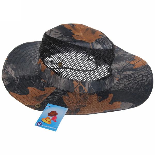 Шляпа мужская с клепками и сеткой серый цвет 58см купить оптом и в розницу