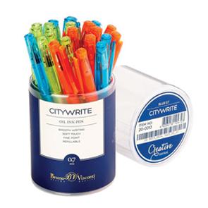 Ручка шар.Bruno Visconti UniWrite CREATIVE 1мм синяя маслян.чернила купить оптом и в розницу