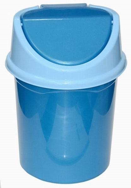 Ведро с подвижной крышкой 4л. (сине/гол) *20 купить оптом и в розницу