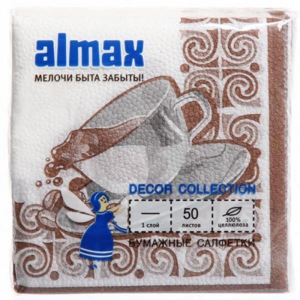 "Салфетки ""Almax"" 50 листов 24х24 (х48) (ассорти новогодние) купить оптом и в розницу"