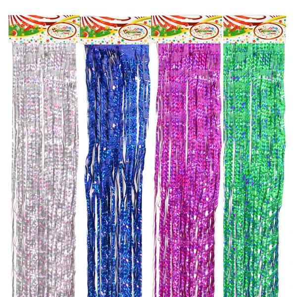 Дождик 1,5м ″Голограмма″ Калейдоскоп цветной купить оптом и в розницу