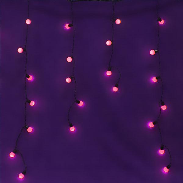 Бахрома светодиодная 3 х 0,3/0,4/0,5м, 96 ламп LED, Розовый, 8 реж купить оптом и в розницу