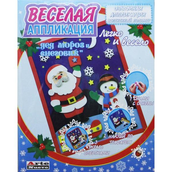 Набор ДТ Аппликация Дед Мороз и снеговик DT-1008NY-6 купить оптом и в розницу