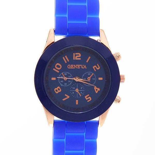 Часы наручные на силиконовом ремешке Женева 853-1 купить оптом и в розницу