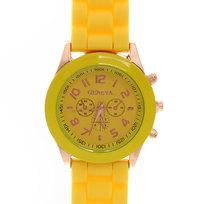Часы наручные на силиконовом ремешке Женева 853-5 купить оптом и в розницу