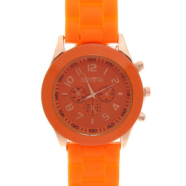 Часы наручные на силиконовом ремешке Женева 853-7 купить оптом и в розницу