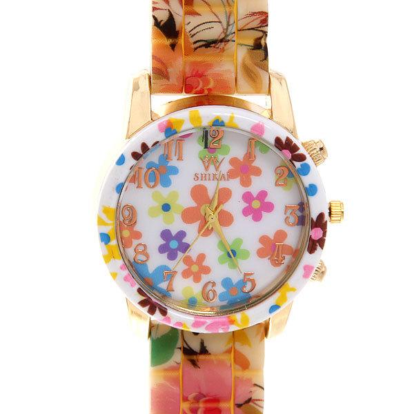 Часы наручные на силиконовом ремешке ″Цветы″ купить оптом и в розницу