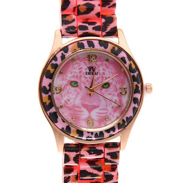 Часы наручные на силиконовом ремешке ″Леопард″ купить оптом и в розницу