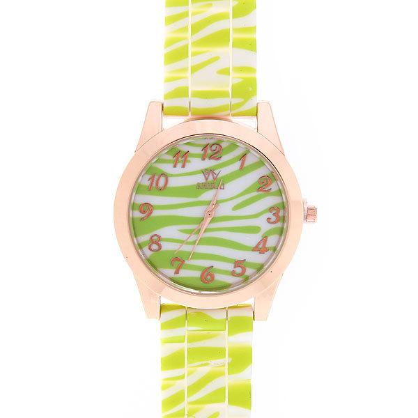 Часы наручные на силиконовом ремешке ″Зебра″ купить оптом и в розницу